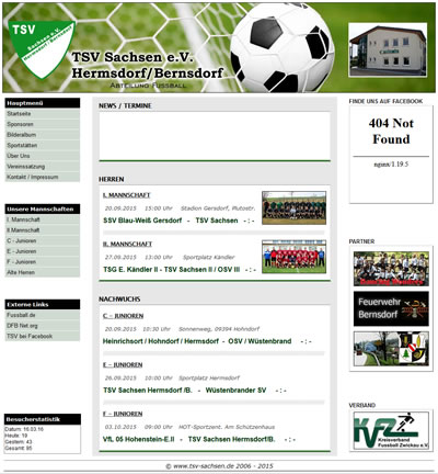 TSV Sachsen Hermsdorf/Bernsdorf Webseite