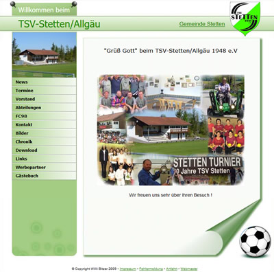 TSV Stetten Webseite