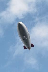 Der Fußball WM Zeppelin